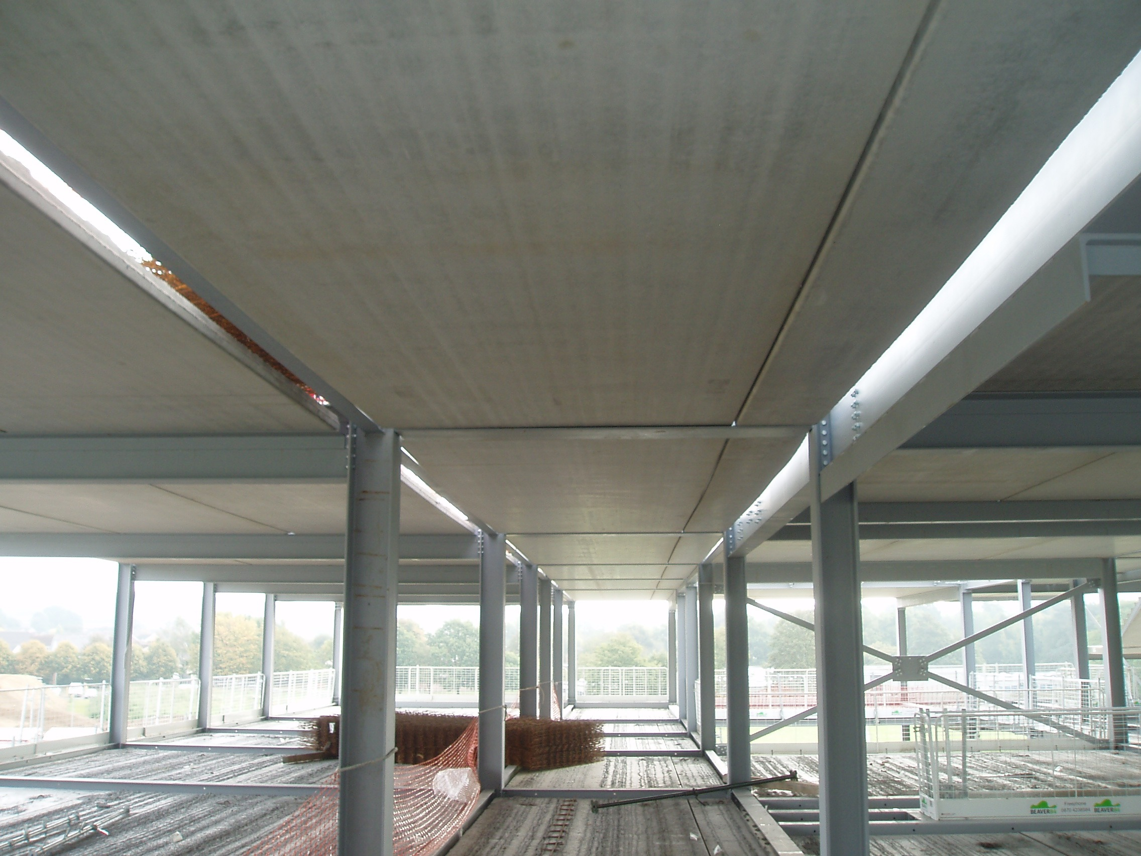 Wide Slab Flooring and Exposed Soffit at Thomas Gainsborough Academy