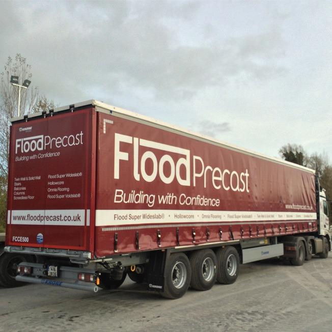 Flood Precast New Fleet for transporting Wide Slab Flooring