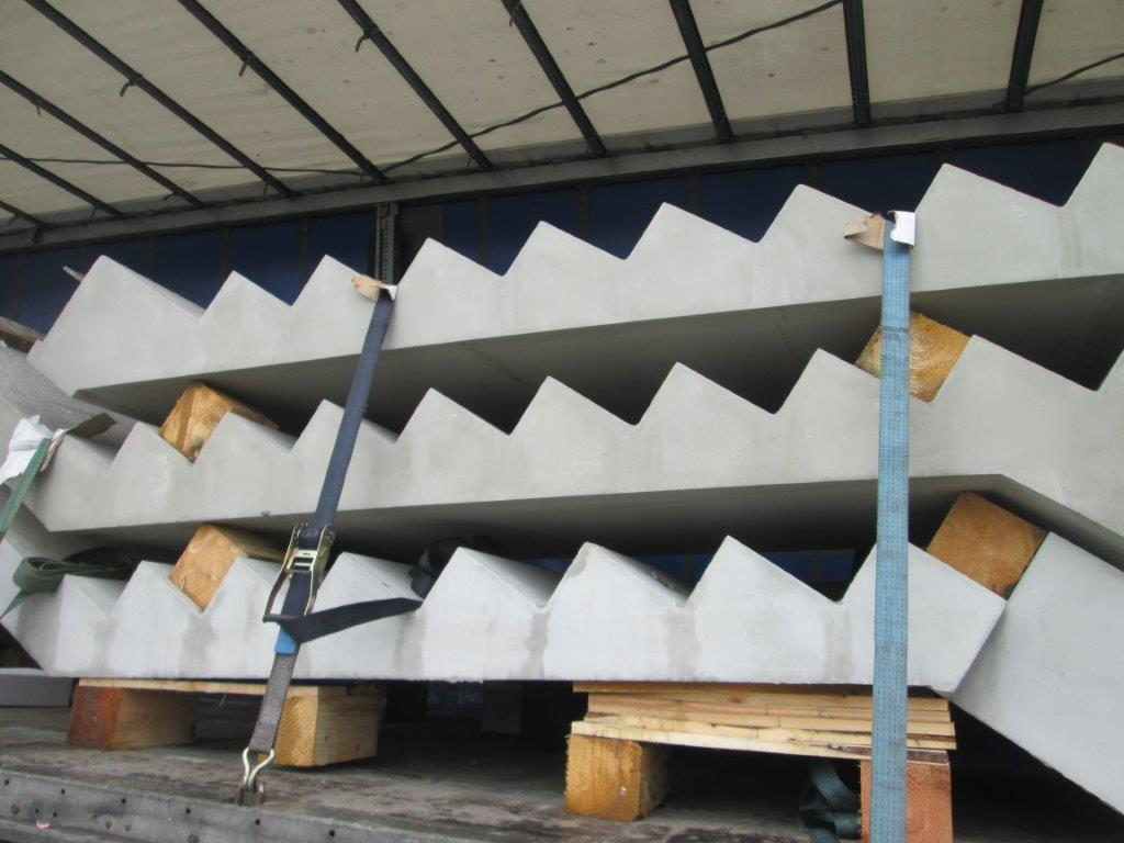 Precast Concrete Stairs : Precast stairs and landings for technology centre flood
