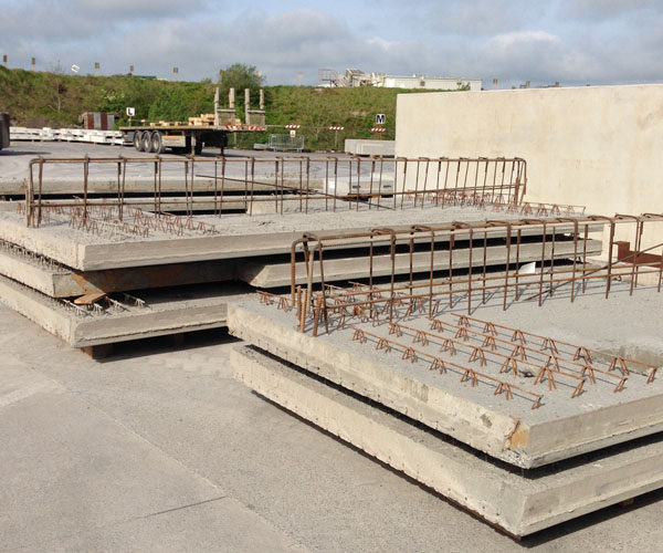 Residential Precast Concrete Slabs : Quick to install precast hollowcore flooring slab