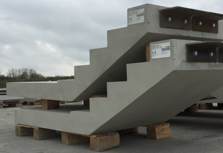 Type B Finish Precast Stairs Provided For Bourne Business