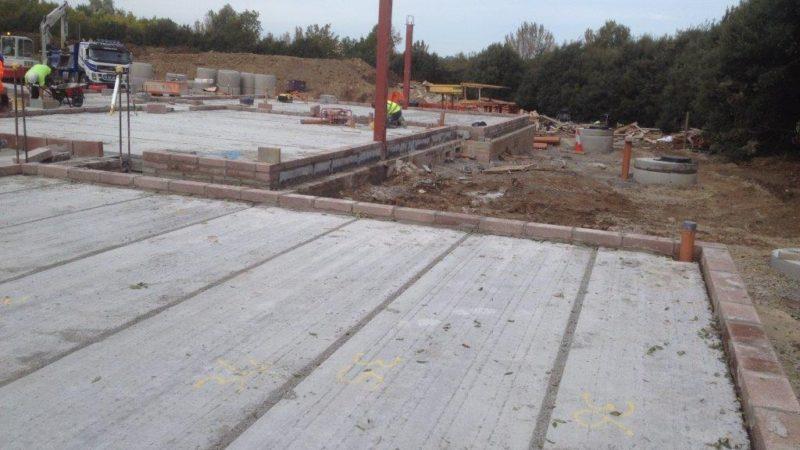 Precast Concrete Slabs : Precast concrete hollowcore flooring projects