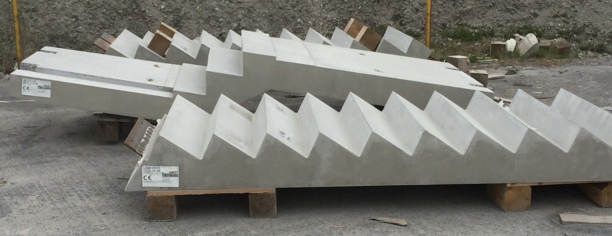 Exchange Building Precast Concrete Stairs