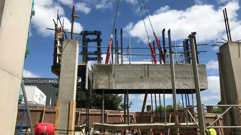 precast columns and stairs