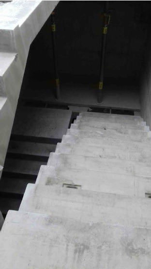 exo building -precast stairs