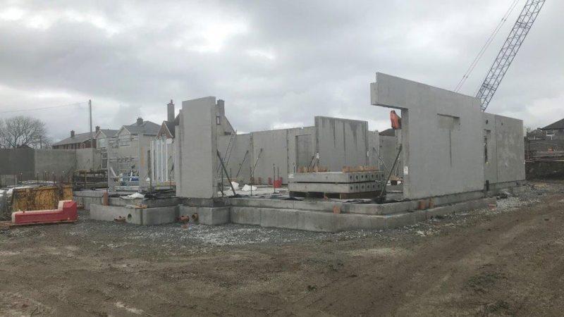 Precast concrete frame